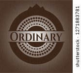 ordinary wood icon or emblem | Shutterstock .eps vector #1271883781