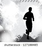 runner illustration | Shutterstock . vector #127188485