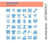 soccer icons set. ui pixel...