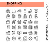 shopping icons set. ui pixel... | Shutterstock .eps vector #1271896714