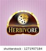 golden emblem or badge with... | Shutterstock .eps vector #1271907184