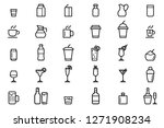 drinks and beverages icons   Shutterstock .eps vector #1271908234