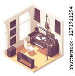 vector isometric home music... | Shutterstock .eps vector #1271911294