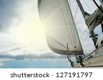 image of a beautiful yacht in... | Shutterstock . vector #127191797