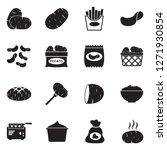 potato icons. black flat design.... | Shutterstock .eps vector #1271930854