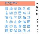 shopping icons set. ui pixel...