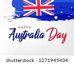 happy australia day lettering ... | Shutterstock .eps vector #1271945434