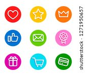 shoping icons colorful. icon... | Shutterstock .eps vector #1271950657