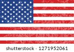 usa flag vintage | Shutterstock .eps vector #1271952061