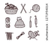 knitting icon vector | Shutterstock .eps vector #1271954014