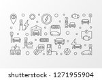 ev charging station vector... | Shutterstock .eps vector #1271955904