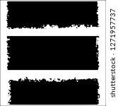 set of grunge textures. black... | Shutterstock .eps vector #1271957737