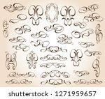 set of decorative elements.... | Shutterstock .eps vector #1271959657