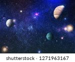 planets  stars and galaxies in... | Shutterstock . vector #1271963167
