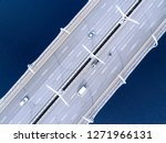 aerial view of highway in the... | Shutterstock . vector #1271966131