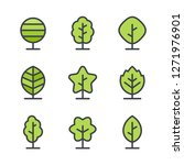 tree icons and logo design... | Shutterstock .eps vector #1271976901
