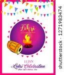 happy lohri illustration... | Shutterstock .eps vector #1271983474