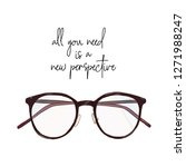 new perspective in glasses ... | Shutterstock .eps vector #1271988247