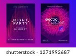 trance party. minimal show... | Shutterstock .eps vector #1271992687