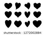 heart silhouette in various...   Shutterstock .eps vector #1272002884