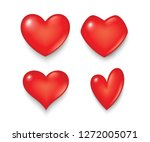 heart symbol in various shapes... | Shutterstock .eps vector #1272005071