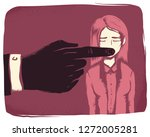illustration of a girl wearing... | Shutterstock .eps vector #1272005281