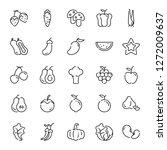 vegan icons pack. isolated... | Shutterstock .eps vector #1272009637
