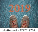 road to new 2019 year  goals... | Shutterstock . vector #1272017734