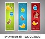 vector easter colored banners | Shutterstock .eps vector #127202009