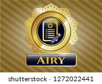 gold shiny badge with clinic... | Shutterstock .eps vector #1272022441