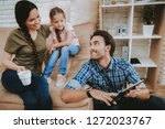 happy family. parents and... | Shutterstock . vector #1272023767