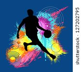 vector basketball player in... | Shutterstock .eps vector #127202795