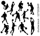 vector basketball players in... | Shutterstock .eps vector #127202849