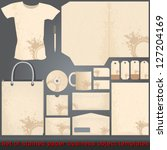 vector set of vintage  grunge ... | Shutterstock .eps vector #127204169