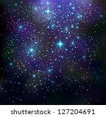 galaxy background   vector... | Shutterstock .eps vector #127204691