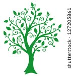 a vector green tree | Shutterstock .eps vector #127205861