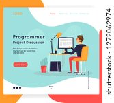 landing page. website template. ... | Shutterstock .eps vector #1272062974