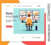 website template. business... | Shutterstock .eps vector #1272064351