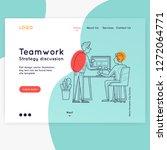 landing page. website template. ... | Shutterstock .eps vector #1272064771