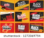 set of black friday sale banner ... | Shutterstock .eps vector #1272069754