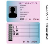 driving license. vector... | Shutterstock .eps vector #127207991