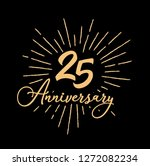 25 anniversary fireworks and... | Shutterstock .eps vector #1272082234