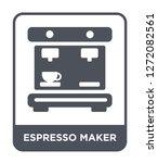 espresso maker icon vector on... | Shutterstock .eps vector #1272082561