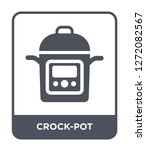 Crock Pot Icon Vector On White...