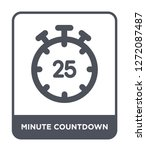 minute countdown icon vector on ... | Shutterstock .eps vector #1272087487