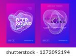 dj event. dynamic gradient... | Shutterstock .eps vector #1272092194