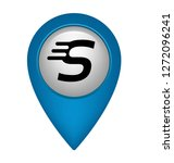 letter s and map pin. logo...