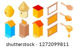 vector beehives apiary set of... | Shutterstock .eps vector #1272099811