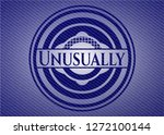 unusually badge with denim... | Shutterstock .eps vector #1272100144