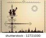 weather vane | Shutterstock .eps vector #12721030